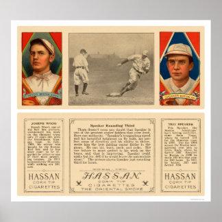Altavoz que redondea el tercer béisbol 1912 impresiones