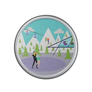 Altavoz retro de Bumpster de la estación de esquí