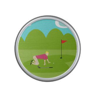 Altavoz retro de Bumpster del golfista