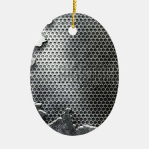Altavoz reventado del metal/del cromo - malo y de  ornamento para arbol de navidad