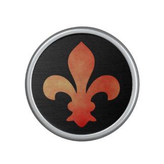 Altavoz rojo de Bluetooth de la flor de lis del or