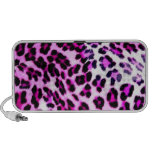 altavoz rosado del estampado leopardo