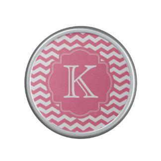 Altavoz rosado personalizado del monograma del