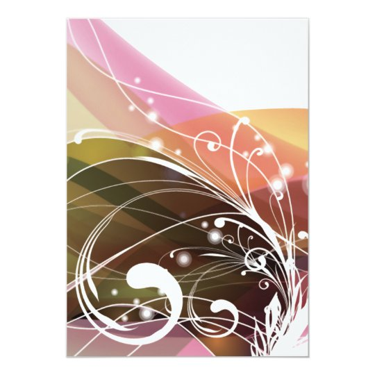 ALTCBWB CORAL BROWNS RETRO FLOWERS ABSTRACT RANDOM CARD