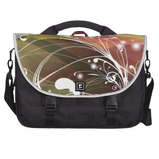 ALTCBWB CORAL BROWNS RETRO FLOWERS ABSTRACT RANDOM LAPTOP COMMUTER BAG