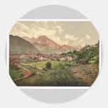 Altdorf, vintage Photochrom de Baviera, Alemania Pegatinas Redondas