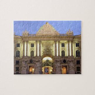 Alte Hofburg at night in Vienna photo Jigsaw Puzzle