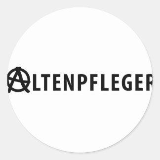 Altenpfleger icon classic round sticker