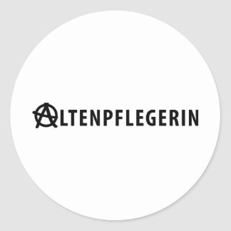 Altenpflegerin icon classic round sticker