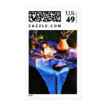 Alter Candles Still Life Postage Stamp