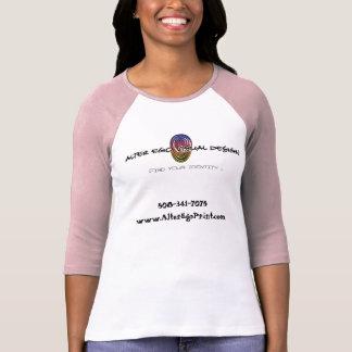 Alter Ego Print - Ladies White/Pink Tshirts