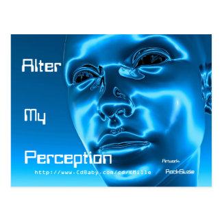 Alter My Perception Blue CYBORG Post Card