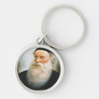 Alter Rebbe Silver-Colored Round Keychain