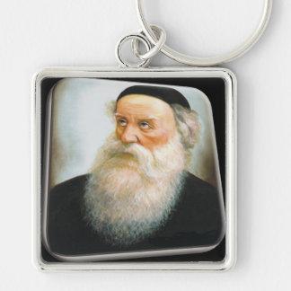 Alter Rebbe Silver-Colored Square Keychain
