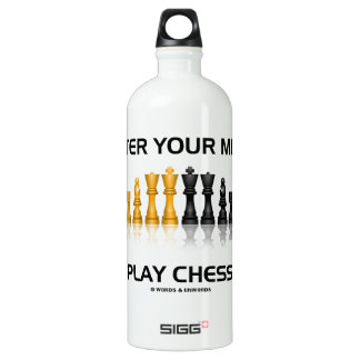 Alter Your Mind Play Chess (Reflective Chess Set) SIGG Traveler 1.0L Water Bottle
