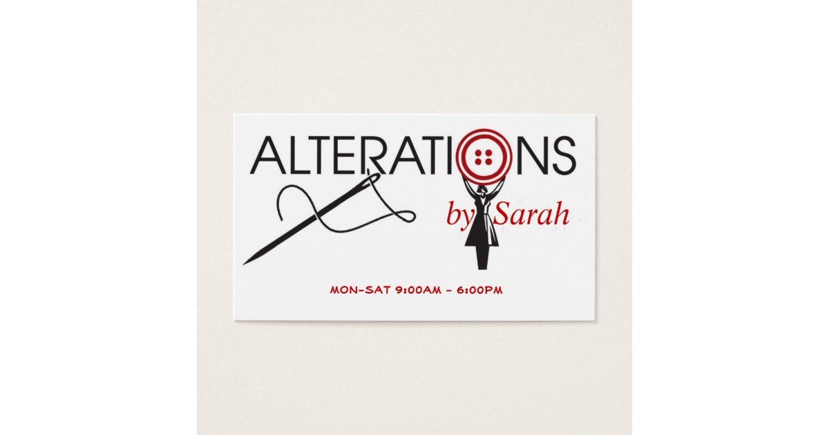 Alteration Business Card | Zazzle.com