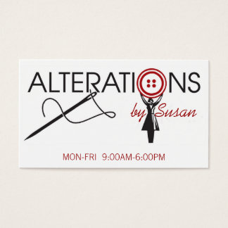 Alteration, Clothing, Tailor, Seamstress Business Card