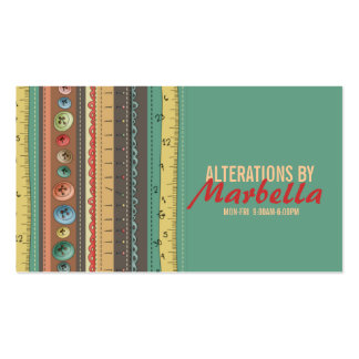Alteration, Clothing, Tailor, Seamstress Vintage Business Card