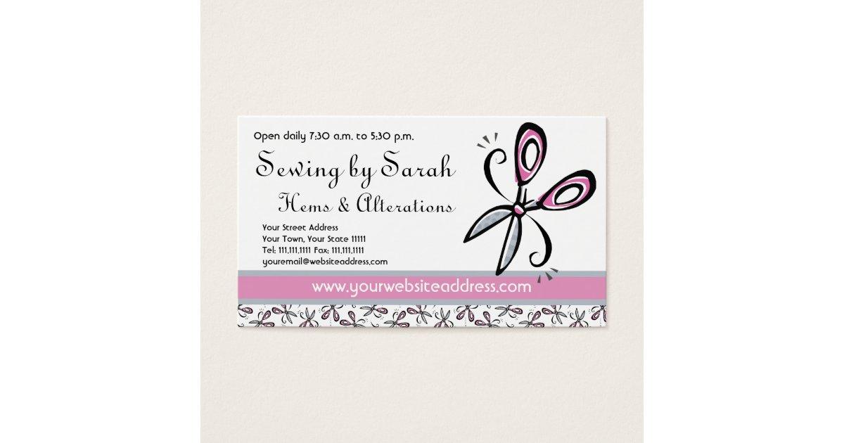 Alterations Shop, Seamstress or Tailor\'s Shop Business Card   Zazzle.com