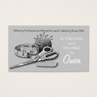 Alterations, Tailor Business Card