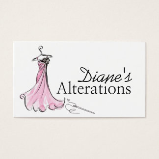 Alterations, Tailoring, Seamstress, Tailor Business Card