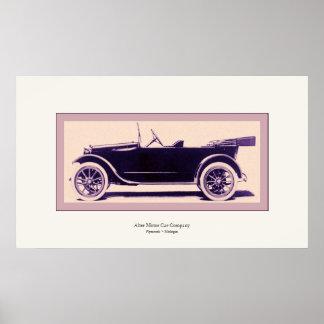 Altere el automóvil del vintage del ~ de la póster