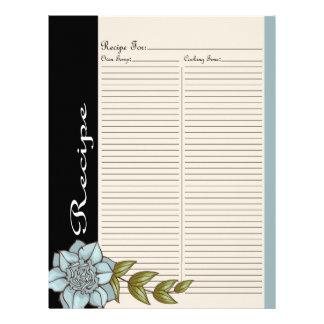 Altere la página de la receta para la carpeta colo membrete a diseño