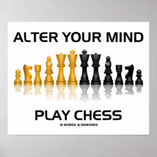 Altere su ajedrez del juego de la mente (el juego  póster