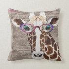 Altered Art Funky Giraffe Throw Pillow