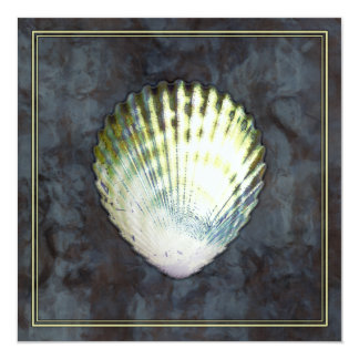 Altered Art Seashell Elegant Blue Water Ocean Sea Card