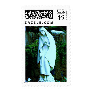 Altered Blue Virgin Mary Postage