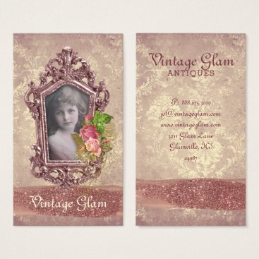 Beach Themed Altered Frame Vintage Glam Wedding Business Card