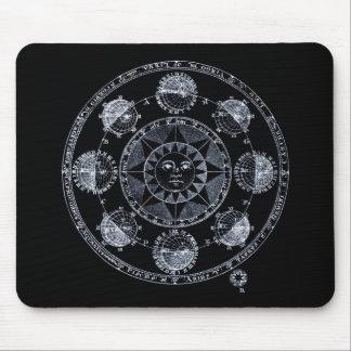 Altered Light Silver Zodiac Sun Eclipses Mousepads
