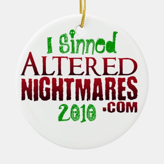 Altered Nightmares 2010 Ornament