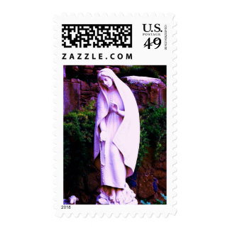 Altered Purple Virgin Mary Postage