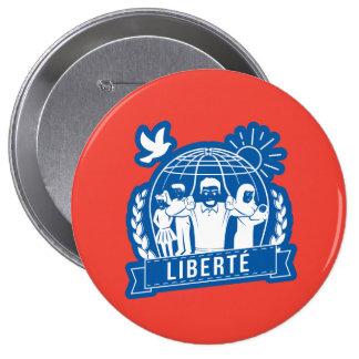 ALTERMONDIALISME LIBERTÉ/FREEDOM - FRANCIA PIN REDONDO DE 4 PULGADAS