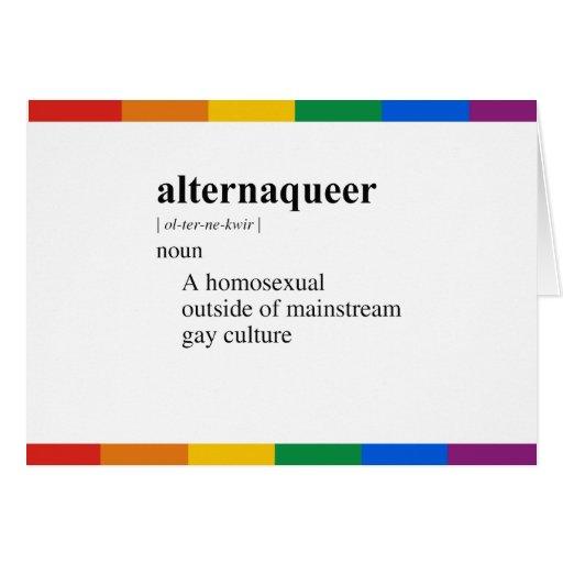 ALTERNAQUEER GREETING CARD