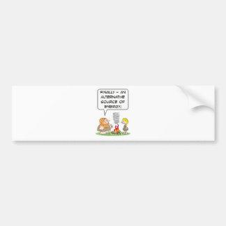 alternate alternative source of energy caveman fir bumper sticker