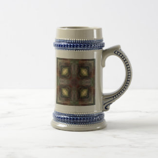 Alternate Dimensions Tiled Abstract Beer Stein