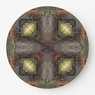 Alternate Dimensions Tiled Large Clock