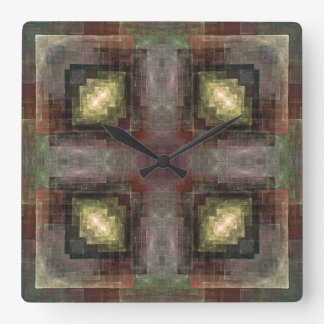 Alternate Dimensions Tiled Square Wall Clock