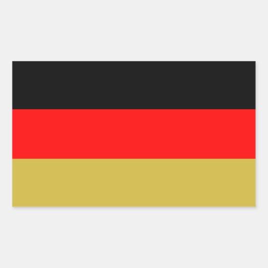 Alternate German Tricolour Rectangular Sticker