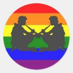 Alternate Greek Gay Pride Flag Classic Round Sticker