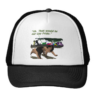 Alternate Lifestyles - LGBT - Lions, Gay Pride Mesh Hats