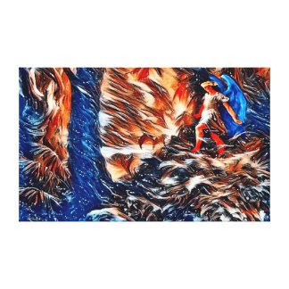 Alternate Paradise Lost Abstract Acrylic Paint Canvas Print