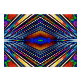"""""""Alternate Realities 1"""" Abstract Psychedelic Art Poster"""