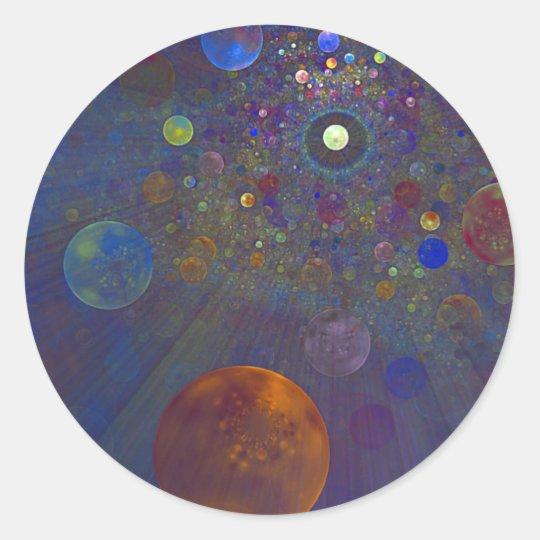 Alternate Universe Abstract Art Classic Round Sticker