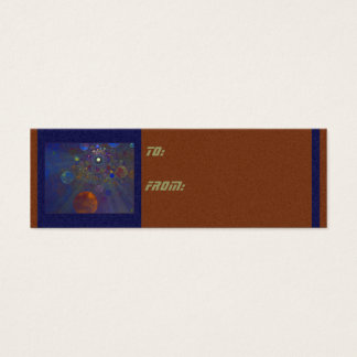 Alternate Universe Abstract Art Mini Business Card