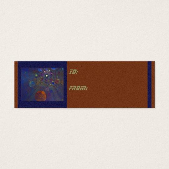 Alternate Universe Abstract Art Mini Business Card