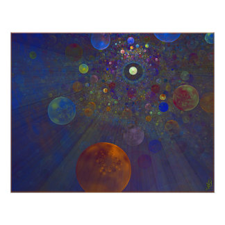 Alternate Universe Abstract Art Poster